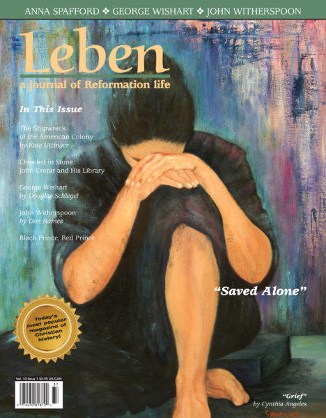 """On the Cover: """"Grief,"""" (oil on linen), original painting by Cynthia Angeles, PaintingsByCynthia.com"""