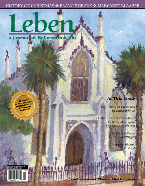 """On the Cover: """"French Huguenot Church, Charleston SC"""" by Ruch Cox, 2002, oil on panel, 12"""" x 16"""""""