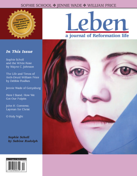 On the Cover: Sophie Scholl by Sabine Rudolph, 2011, 100 cm x 80 cm, oil on canvass.