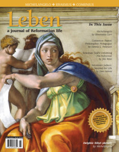 """On the Cover: """"Delphic Sibyl"""" (detail), by Michelangelo, c. 1509"""