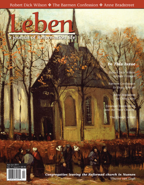 """On the Cover: """"Congregation leaving the Reformed church in Nuenen,"""" 1884, Oil on canvas, Vincent van Gogh."""